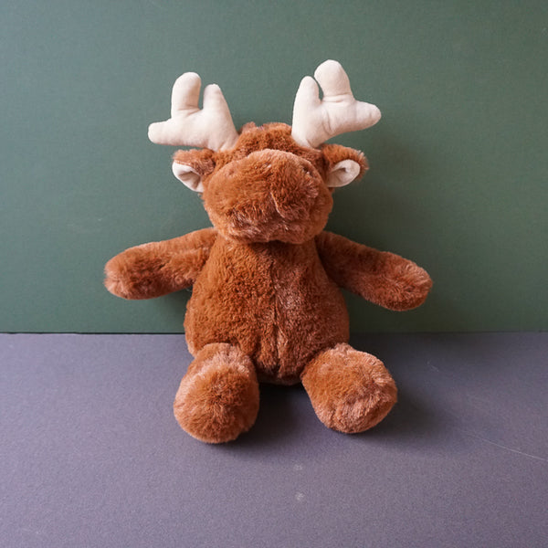 Moses the brown Moose Squeaky Plush Dog Toy