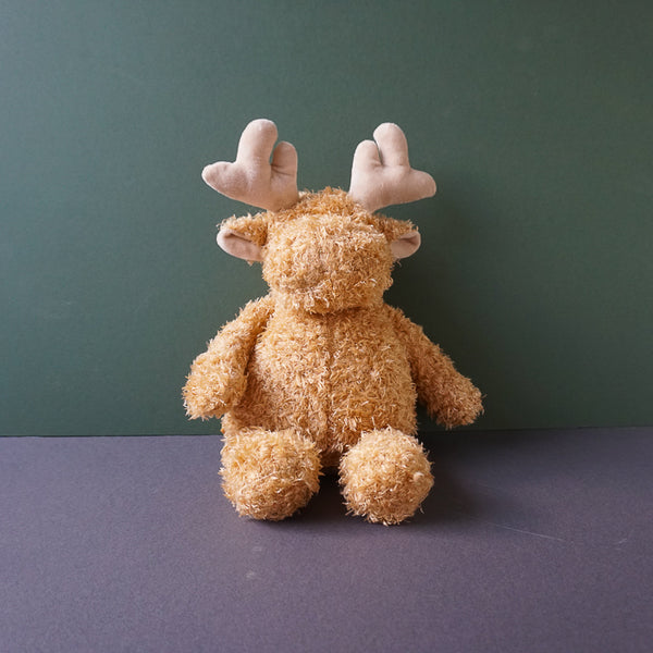 Maverick the tan Moose Squeaky Plush Dog Toy