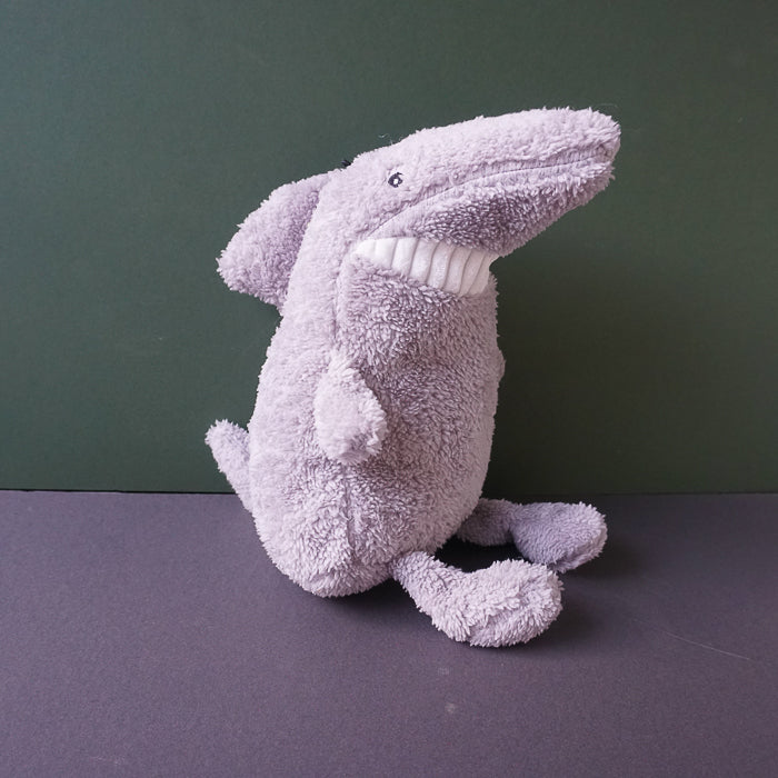 Samuel the grey Shark Squeaky Plush Dog Toy