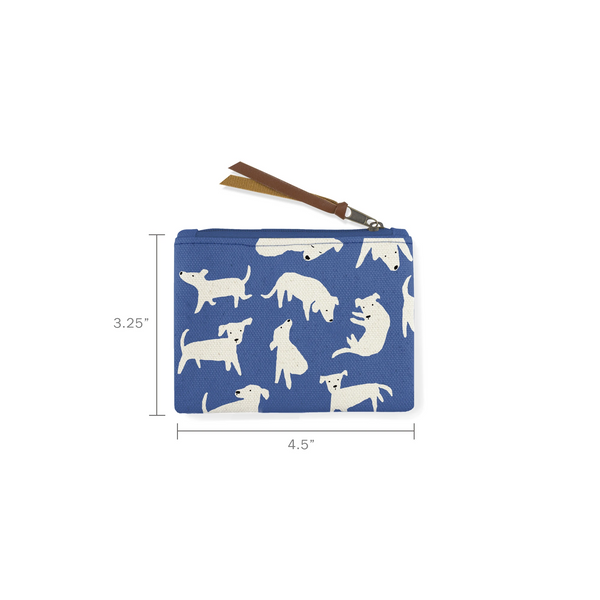 Nosey Dog Spot Canvas Coin Pouch