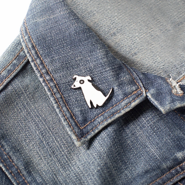 Nosey Dog Spot Bull Terrier Enamel Pin