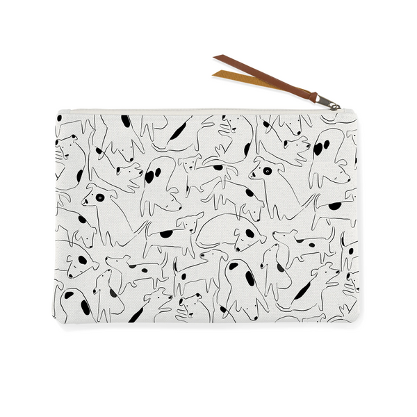 Nosey Dog Spot Canvas Pouch