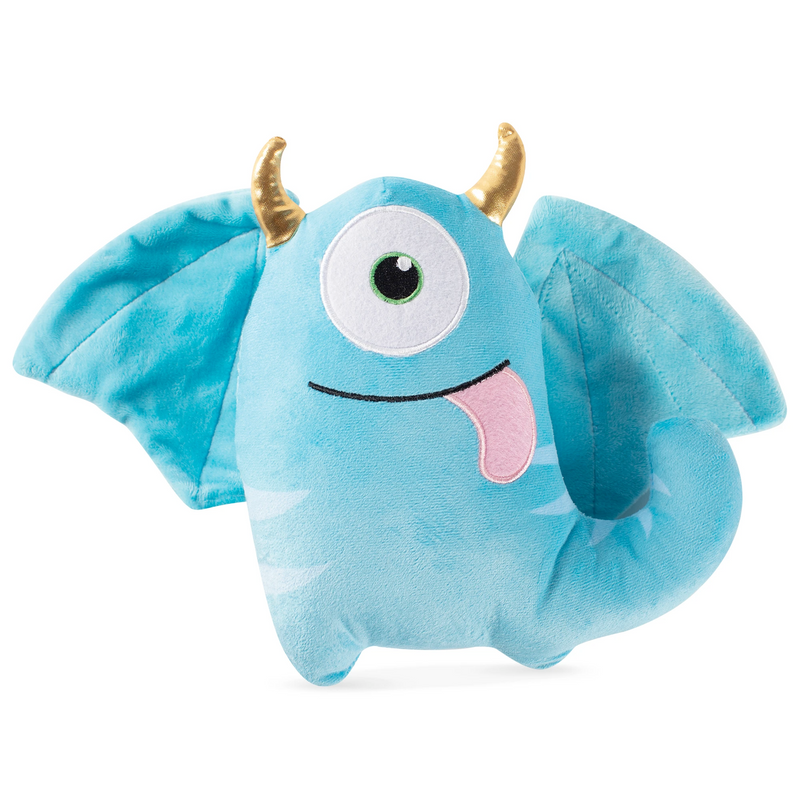 Blaze the One-Eye Horned Monster Dog Squeaky Plush toy
