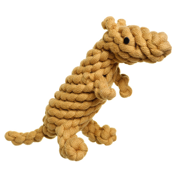 Outback Tails Kezza the Kangaroo Natural wool recycled bottle dog toy