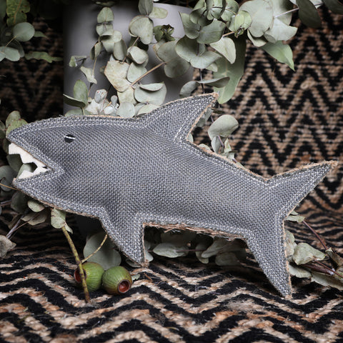 Outback Tails Shazza the Great White Shark Jute dog toy