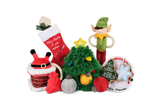 P.L.A.Y. Merry Woofmas Dog Plush toys: Bundle