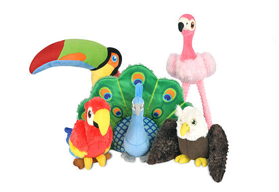 Fetching Flock Plush Dog toys