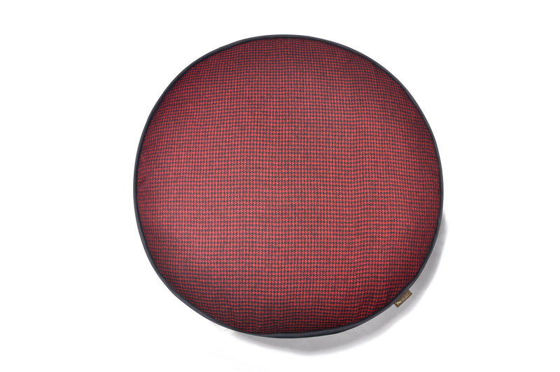 [Pre-order]Round Bed: Houndstooth Cayenne Red