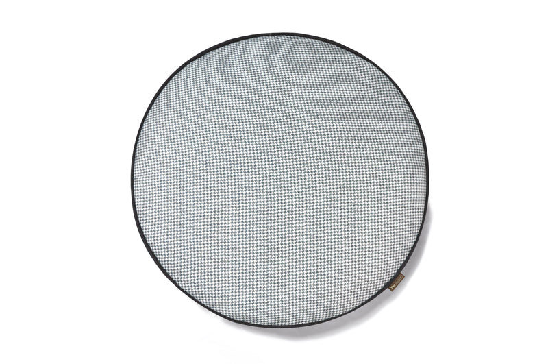 [Pre-order]Round Bed: Houndstooth Light Blue