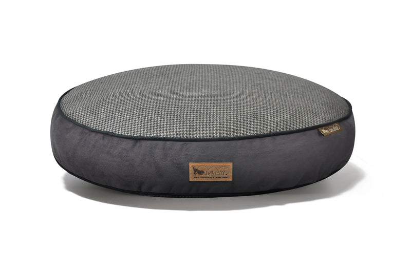 [Pre-order]Round Bed: Houndstooth Shadow Grey