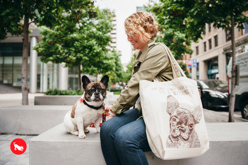 PLAY Best in Show Tote - FRENCHIE - I'LL BE WATCHING YOU