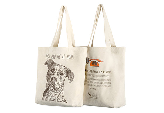 PLAY Best in Show Tote - RESCUE MUTT - YOU HAD ME AT WOOF_2