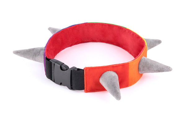 PLAY Biff the Dog SPIKED plush collar