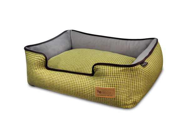 [Pre-order]Lounge Bed: Houndstooth Buttercup Yellow