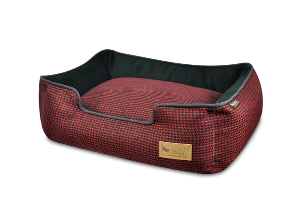[Pre-order]Lounge Bed: Houndstooth Cayenne Red