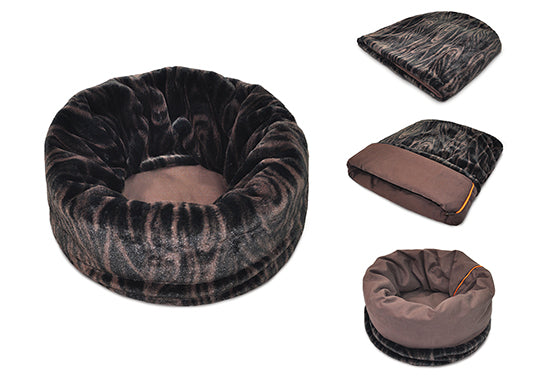 PLAY Snuggle Bed Truffle Brown for Dogs and Cats