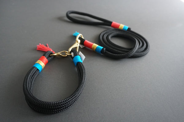 Rugged Wrist Dog Leash in LolaBarksdale Rope with Tassel