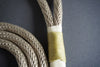 Rugged Wrist Dog Leash in Gold Olive Rope with Tassle