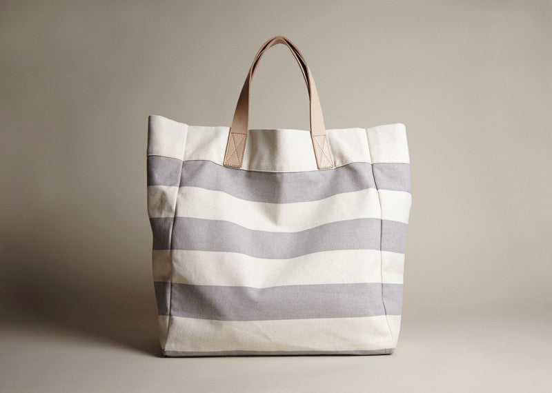 Totes: Grey Stripe Canvas
