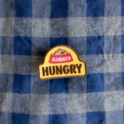 Dog Merit Badges: Always Hungry
