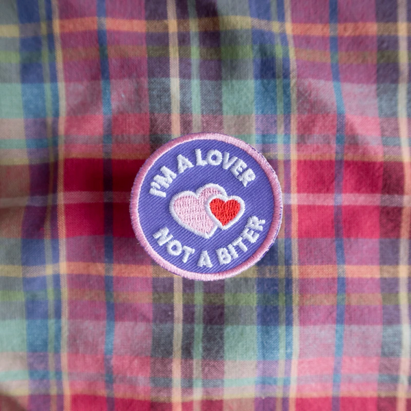 Dog Merit Badges: I am a Lover not a Biter