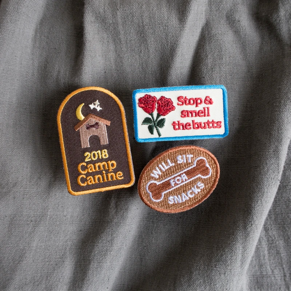 Dog Merit Badges: Stop and Smell the Butts