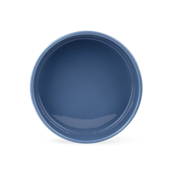 Sculpt Paw Ceramic Dog Food Water Bowl in Navy