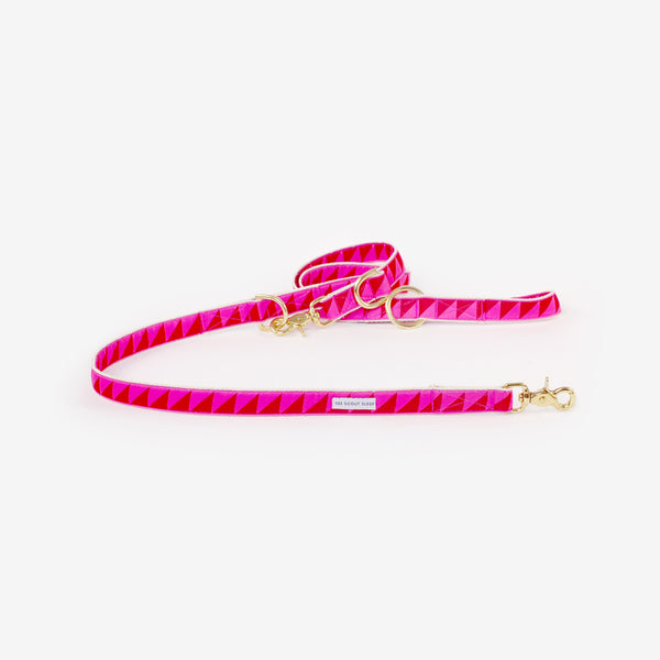 Nice Grill Dog Leash: Ruby Hot Pink