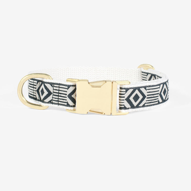 Out of My Box Dog Collar: Black Cream