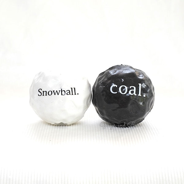 Dog Toy: Snow and Coal