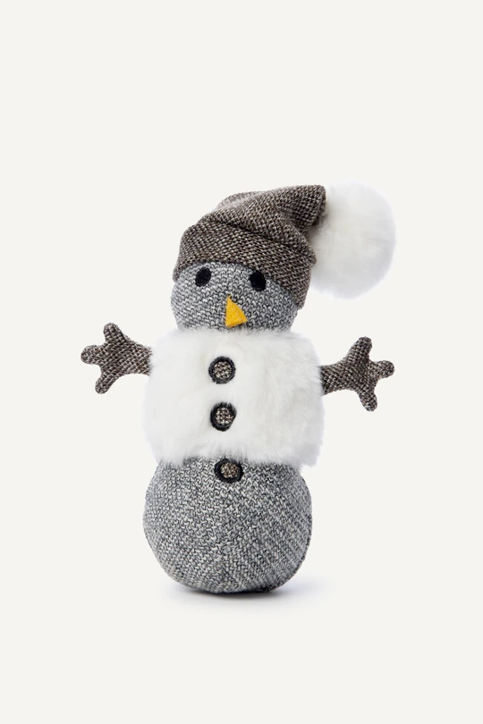 Snowman Squeaky Plush Dog Toy
