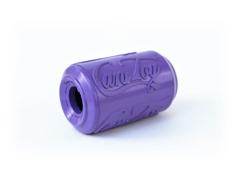 Natural Rubber Treat Dispenser Can Toy, Purple