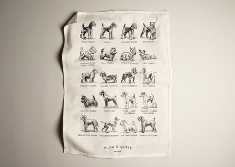 Tea towel: Terrier