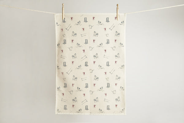 Tea towel: Gardening print