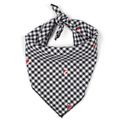 Cotton Flannel Bandana for Dogs in Checks, Santa Hats