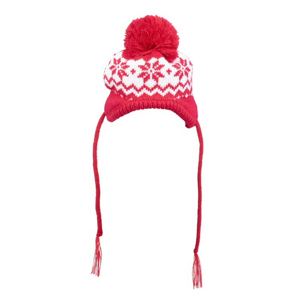 Fairisle Snowflake Hat with ear hole opening for Dogs and Cats