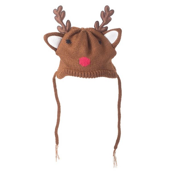 Reindeer Hat with ear hole opening for Dogs and Cats