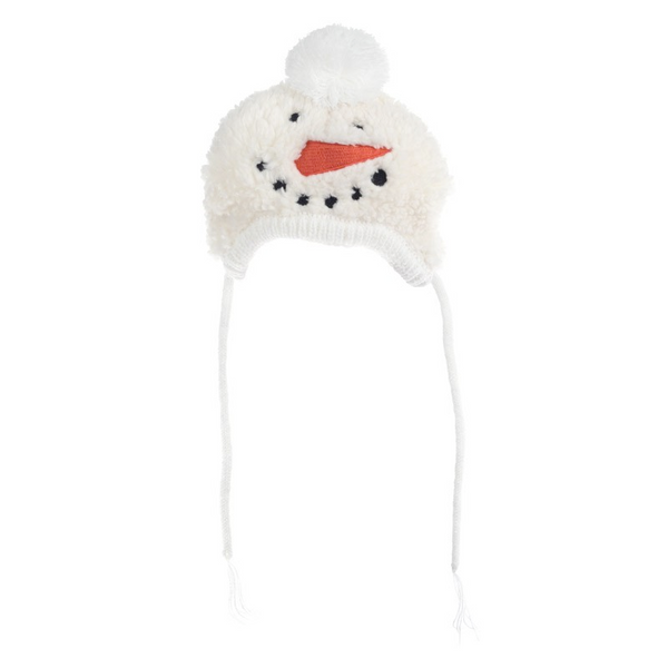 Snowman Hat with ear hole opening for Dogs and Cats