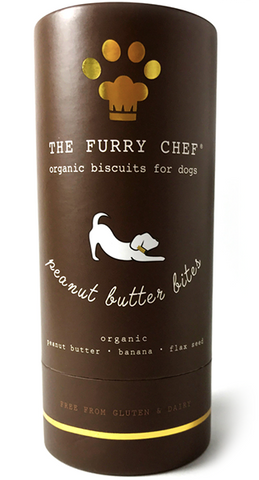 The Furry Chef Organic Biscuit Treats for Dogs Peanut Butter Bites