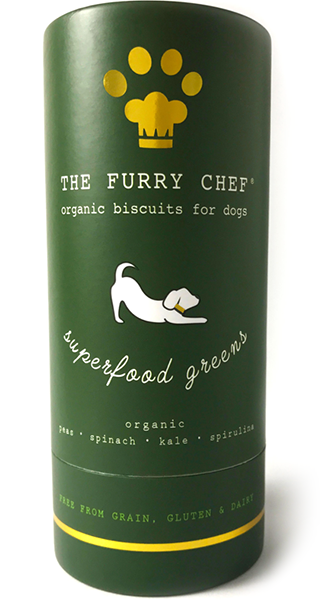 The Furry Chef Organic Biscuit Treats for Dogs Superfood Greens