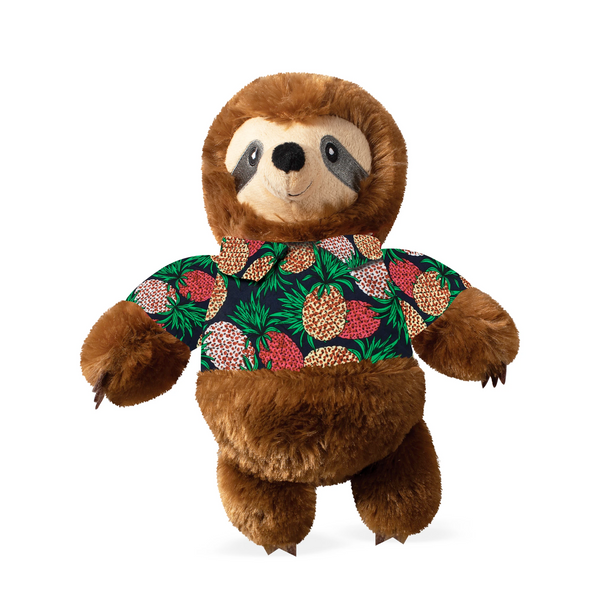 Vacay Vibes Sloth Dog Squeaky Plush toy