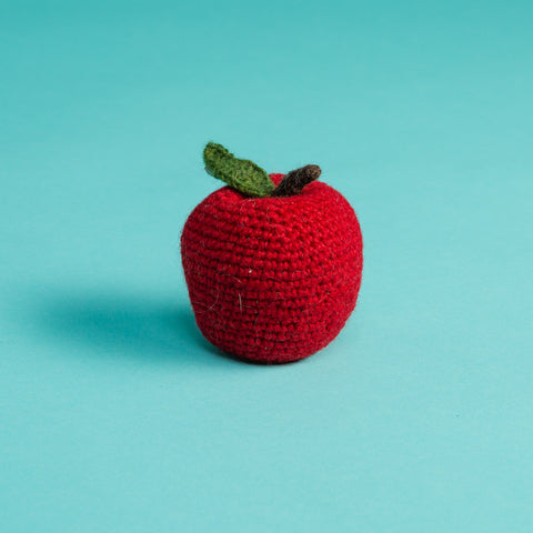 Hand Knitted Apple