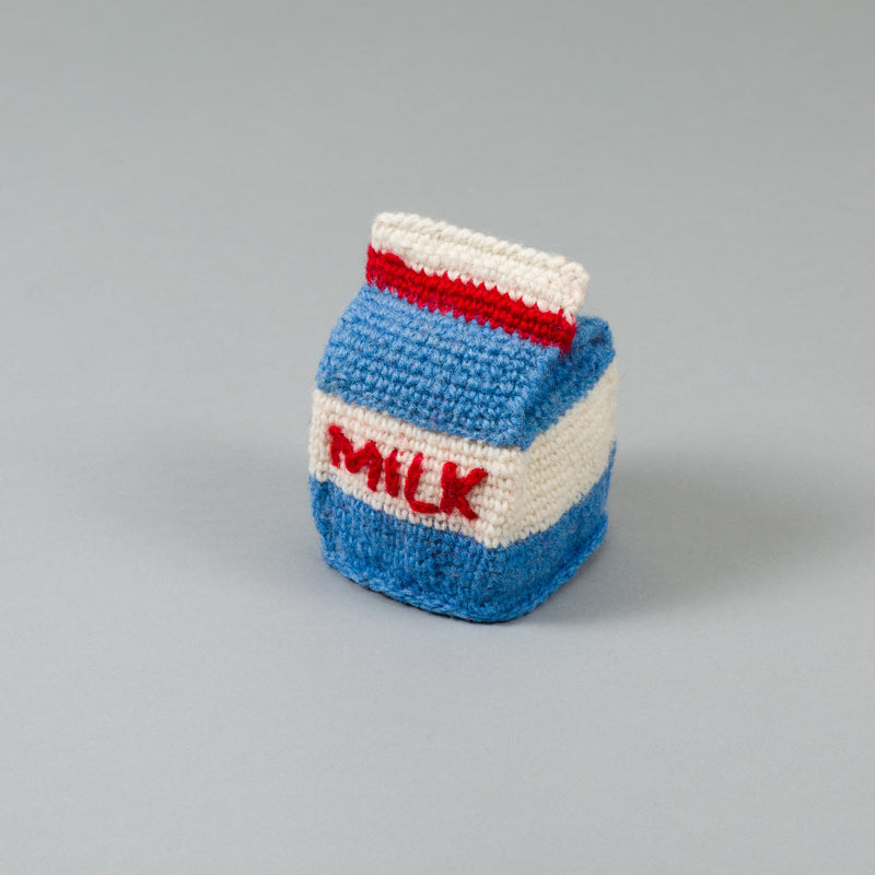 Dog Toy: Hand Knitted Milk Packet
