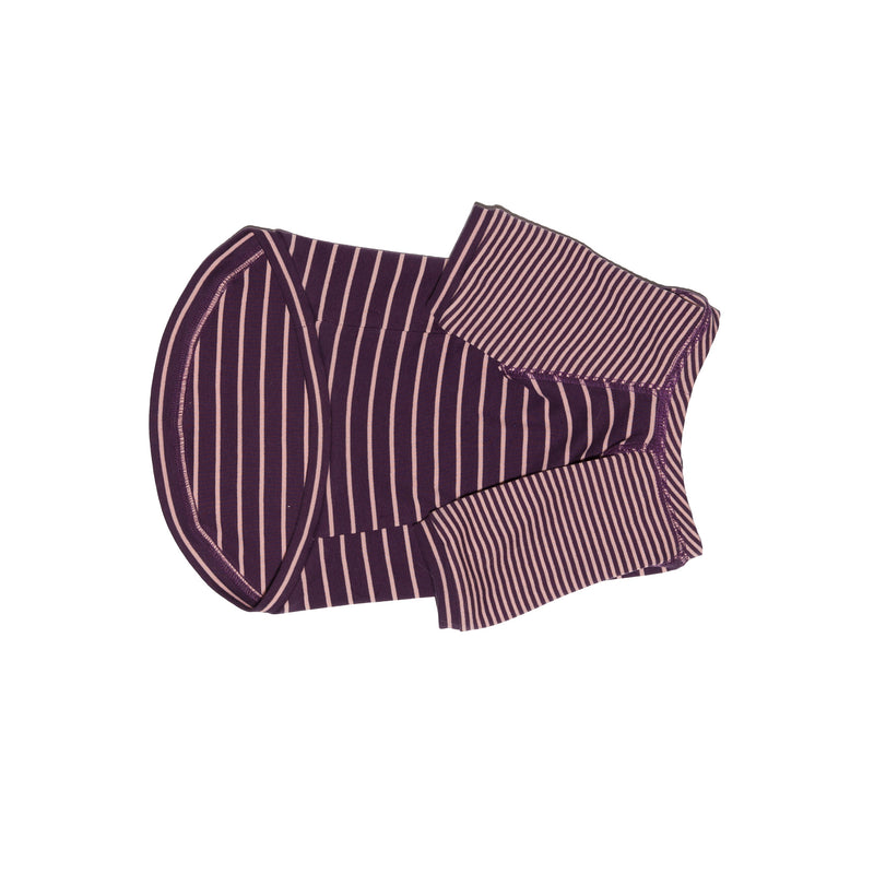 Ware of the Dog Contrast Striped Dog t shirt Burgundy Pink