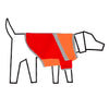 Ware of the Dog Diagonal Stripe Dog t shirt Orange Red