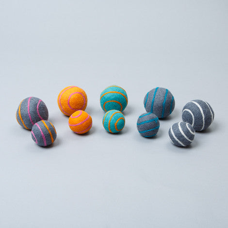 Ware of the Dog Striped Boiled Wool Felt Balls Dog Toy