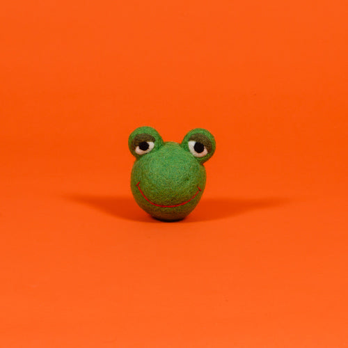 Ware of the Dog toy Boiled Wool Frog Face