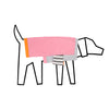 Ware of the dog ColourBlock T-shirt Pink