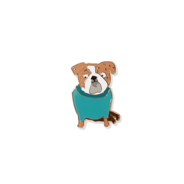 Weird Bulldog Enamel Pin