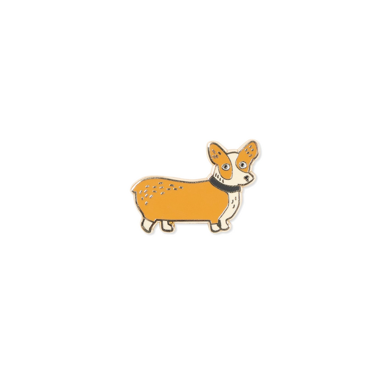 Weird Corgi Enamel Pin